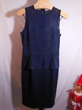 MISSES NAVY LAMB SUEDE STENCIL CUT FORMAL AVIVA DRESS ELIE TAHARI 8 12 $1298