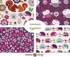 Owl and Hedgehogs and Friends Flannel Fabric Collection  U Choose