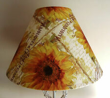 Vintage Sunflower Lampshade shabby chic french script MOTHERS DAY GIFT