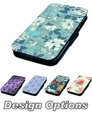 Floral Designs - Printed Faux Leather Flip Phone Cover Case
