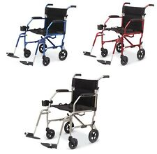 Medline Freedom Ultralight Lightweight Transport Chair Wheelchair, Just 14.8 Lbs