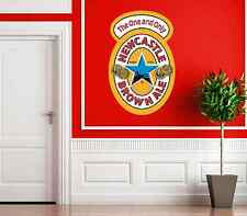 LARGE NEWCASTLE BROWN ALE LAGER BEER LABEL PICTURE BAR PUB UNITED SIGN STICKER