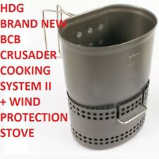 BRITISH ARMY BCB CRUSADER COOKER COOKING MUG CUP MK2 FIRE DRAGON HEXI GEL FUEL