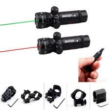 980ft/300m Tactical Rifle Green/Red Dot Scope Laser Sight+Pressure Switch+Mount
