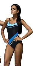 Women swimming costume one piece swimsuit swimwear flat seams, brief style legs