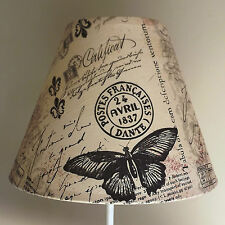 Carte Postal Lampshade shabby chic french script bedroom stamps MOTHERS DAY GIFT