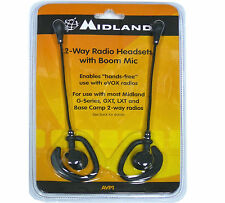 Midland AVP1 VOX Hands-Free Headset Microphones for FRS GMRS 2 Way Radios 2 Pack