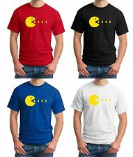 "$5 Funny Manny Pacquiao Floyd Mayweather T-shirt S-3XL ""Pac-Man Eating $ money"""