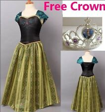 Frozen ANNA Elsa Disney Princess Dress Coronation Gown Costume Sizes 4T-8Year