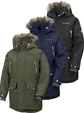 Didriksons Roger Boys Parka 100% Waterproof Insulated Kids Coat 500283