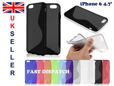 iPhone 6 4.7 Soft Gel Silicone S-Line Rubber Case Cover Bumper Skin !UK SELLER