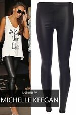 Womens Ladies Celebrity Inspired Wet Look PVC Leatherette Gothic Sexy Leggings