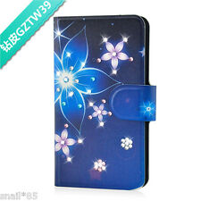 DIY Bling Diamond Flower PU Leather Flip Case Cover For Samsung Galaxy 39