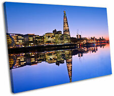 The Shard Building London Skyline Framed Canvas Wall Art Picture Print