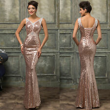 2015 Mermaid /Fishtail Prom Party Bridesmaid Dresses Bodycon Gown Evening Formal