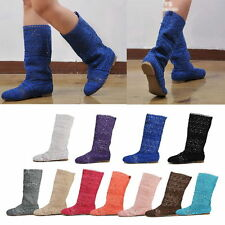 Chic Summer Womens Popular Knitted Hollow Shoes Casual Comfort Sandal High Boots