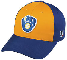 MLB MILWAUKEE BREWERS Baseball COOPERSTOWN CAP Blue HAT Velcro STRAP YOUTH ADULT