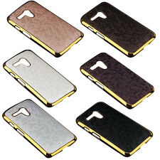 Hot Sale Luxury Chrome Gold Leather Hard Skin Case Cover For Motorola Moto G