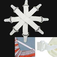 4/8/12Pcs Bed Sheet Grippers Keep Snug Cover Blankets Clip Fasteners Holder