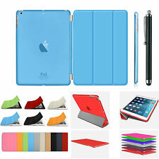 Sottile Smart Magnetico CUOIO + PLASTICA POSTERIORE cover per Apple iPad 2/3 / 4, MINI, AIR 1,2