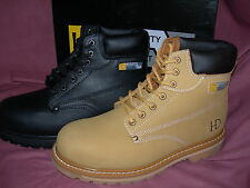 Mens Boys Boots Safety Work Fully Waterproof Heat-Proof Sole HD22/44 MRP £49.99