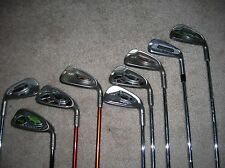 PING 7 DEMO IRONS BLACK BLUE GREEN WHITE YELLOW ORANGE DOT COLORS RH STEEL SHART