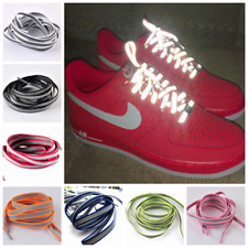Flat Visibility Shoe Laces Reflective Shoelaces Running Cycling Safty Shoestring
