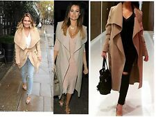 Womens ladies Long belted Trench drape waterfall Coat Jacket mac size 8-14 lot