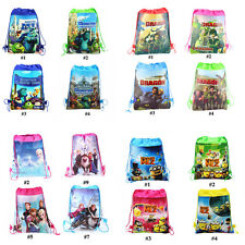 How to Train Dragon Minions Frozen Kids Swimming PE Toy Backpack Drawstring Bag
