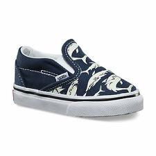 VANS Kids boys glow in the dark shark slip-on shoes BNWT