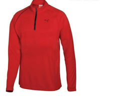 Puma golf 1/4 zip LS Polo Tomato Was $75 #3792