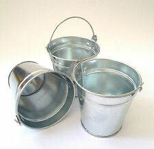 Set of 3, 6, or 12 Small Metal Buckets Party Shabby Wedding Favours Crafts H10cm