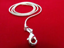 "925 Silver Snake chain necklace 2mm 16"" 18"" 20"" 22"" 24"""