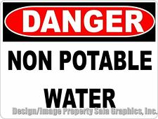 Danger Non Potable Water Sign. Inform H2O Not for Consumption, Do Not Drink