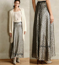 NEW Anthropologie Liza Maxi Skirt By Corey Lynn Calter Sequin embellishment USA