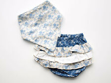 Baby Girls Diaper Frill Pants Vintage Inspired with matching Dribble Bib SIZE 0.