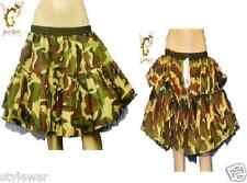New Ladies Army Camouflage Green Tutu Skirt Fancy Dress Military Uk Size 8-16