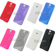 Gel Rubber TPU Silicone Case Skin Cover for HTC ONE ( E8) Ace Dual Sim CDMA