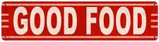 Vintage Retro Good Food Metal Sign Diner Cafe Restaurant Kitchen Wall Decor RPC