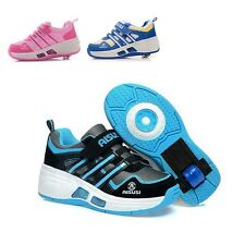 New Girls Boys Roller Shoes With Lamp Roller-skate Kid Heelys Wheel Shoes FX1201