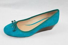 AUTH Tory Burch Women Chelsea 45mm Soho Lux Suede Wedge Shoes