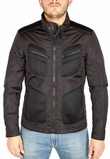 BLACK NYLON JACKET with ZIP TECHNICAL MATERIAL INSERTS men s/s FAY 23C05