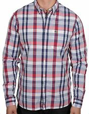 Lacoste L!Ve Men's Long Sleeve Plaid Woven Shirt 100% Cotton CH8929-51 E9N