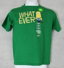 Despicable Me Boys Minions What Ever T-Shirt Green New NWT Glow in the Dark