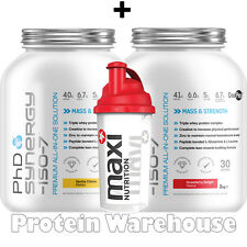 2 x PhD Synergy ISO-7 2kg 4.4lb All In One Protein + Free Shaker