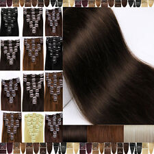 100g 110g 120g Clip In Remy Human Hair Extensions Full Head Cheap Clearance F701