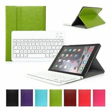 For Apple iPad Air 2 iPad 6 Wireless Bluetooth Keyboard with Leather Case Cover