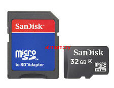 Sandisk 32GB 32G MicroSD Micro SDHC Memory Card Class 4 w/ Adapter 1/3/5pcs lot