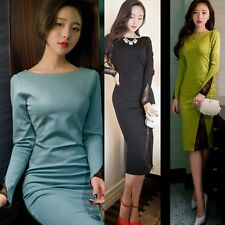 Boat Neck Open Back Hip Hugging Fitted Women Sheath Soiree Party Bodycon Dress