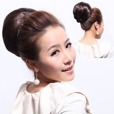 Clip In Womens Pony tail Bride Bun Hair Extensions Scrunchie Bun Cover Hairpiece